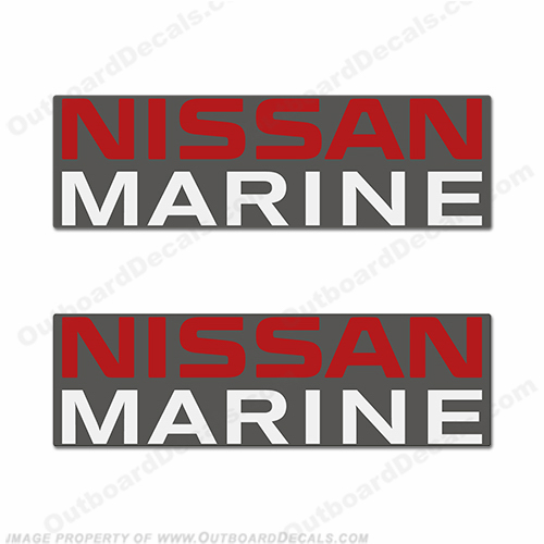nissan outboard motor decals