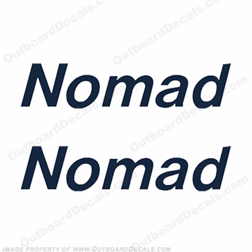 Nomad Boat Logo Decals - Any Color!