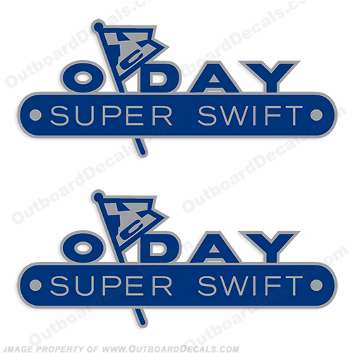 ODay Super Swift Boat Decals (Set of 2)