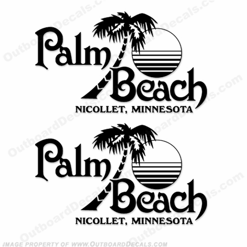 Palm Beach Nicollet, Minnesota Logo Decals - Any Color!