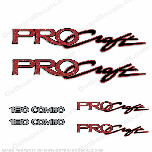 Pro Craft Boats Logo Decal Package