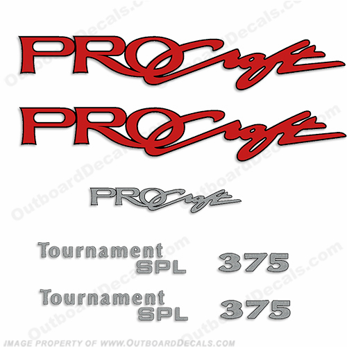 ProCraft Tournament SPL 375 Decal Package