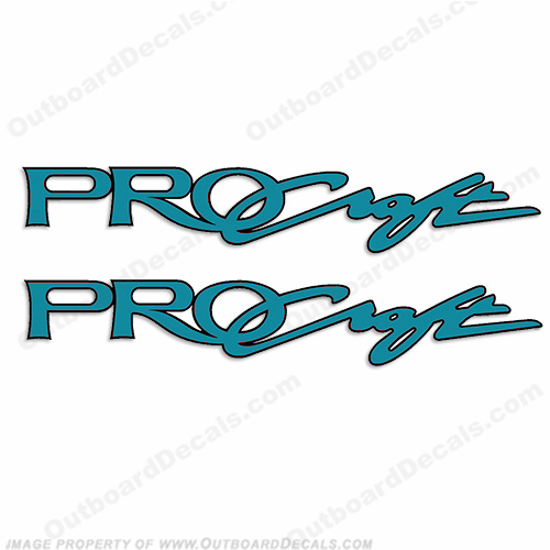 "Tracker Marine Pro Craft Boats Logo Decals 52"" - Teal"