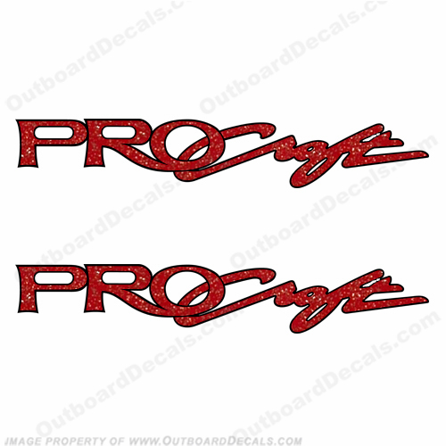 "Tracker Marine Pro Craft Boats Logo Decals 47"" - Red  - B-TRA-PC-47-R"
