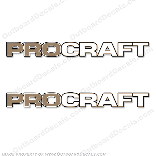 Pro Craft Logo Decals (Light Gold) procraft, pro-craft