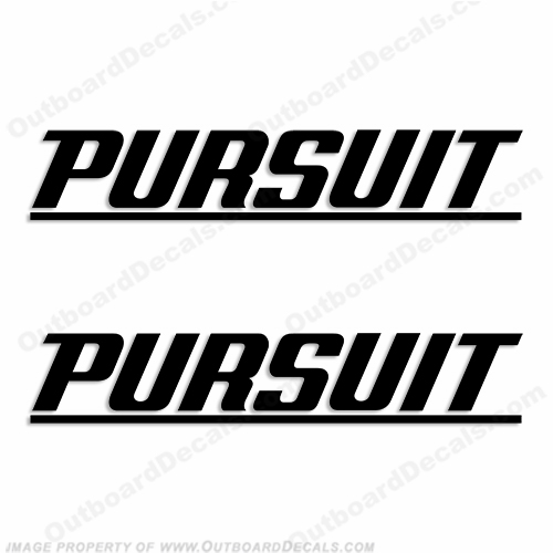 Pursuit Boat Logo Decal (w/ line) - Any Color!