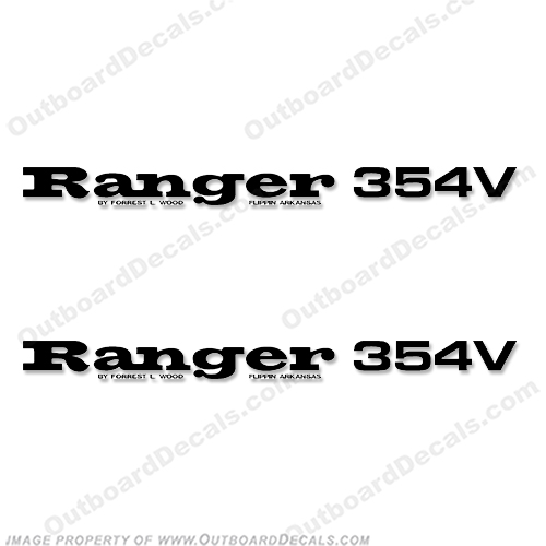 Ranger 354V Decals (Set of 2) - Any Color! ranger 354v, 354 v