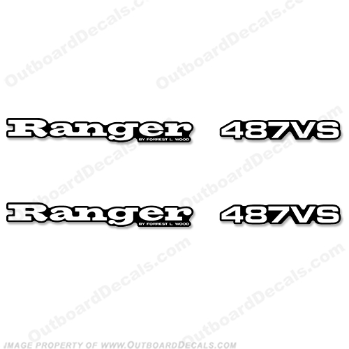 Ranger 487VS Decals (Set of 2) - Any Color! 487 vs