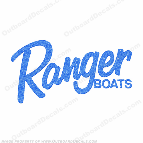 Ranger Boats Logo Decal - Metallic Blue