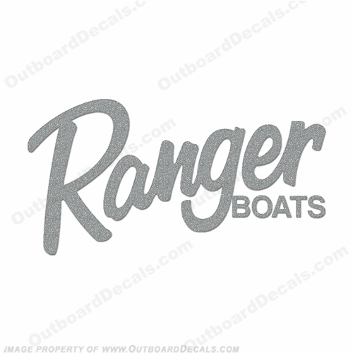 Ranger Boats Logo Decal - Metallic Silver