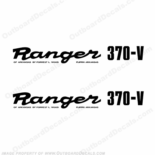 Ranger 370-V 1980s Style Decals (Set of 2) - Any Color!
