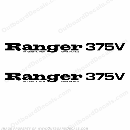 Ranger 375V Decals (Set of 2) - Any Color!