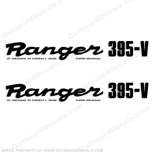 Ranger 395-V Early 1980s Decals (Set of 2) - Any Color! ranger 395v, 395 v, 1980, 80, 81, 82, 83, 84, 85, 86, 87, 88, 89