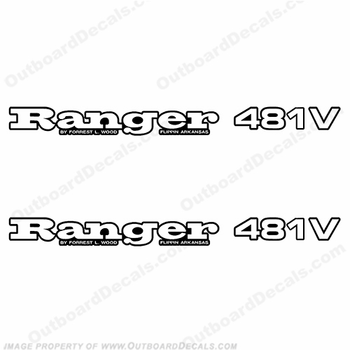 Ranger 481V Decals (Set of 2) - Any Color!