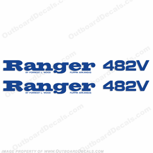 Ranger 482V Decals (Set of 2) - Any Color!