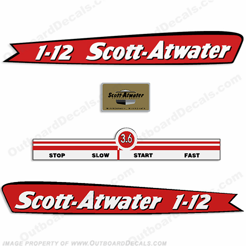 Scott Atwater 3.6hp Decals - 1947