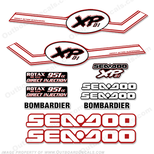 Sea Doo XPDI Decal Kit - 2004 sea doo, xp di, sea-doo, seadoo