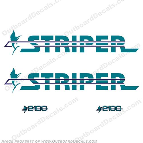Seaswirl Striper Boat Decal 8626-31122301 Silver Black Vinyl