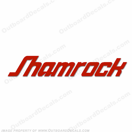Shamrock Boats Logo Decal - Any Color!
