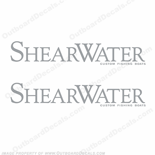 Shearwater Boat Logo Decals (Set of 2) - Any Color!