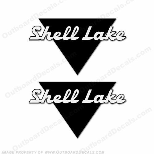 Shell Lake Boat Logo Decals (Set of 2) - Any Color!