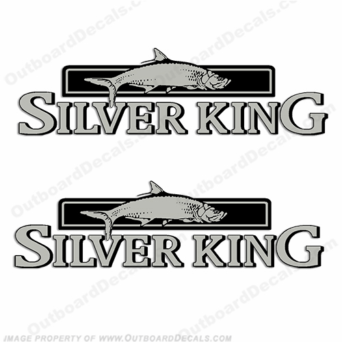 Silver King Decals by Mako Marine (Set of 2)