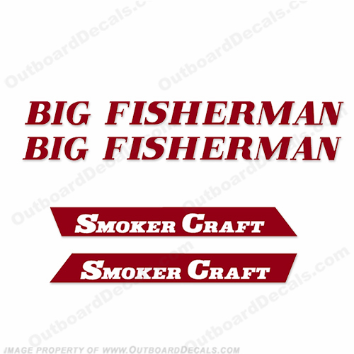 "Smoker Craft ""Big Fisherman"" Boat Decal Package - Any Color"