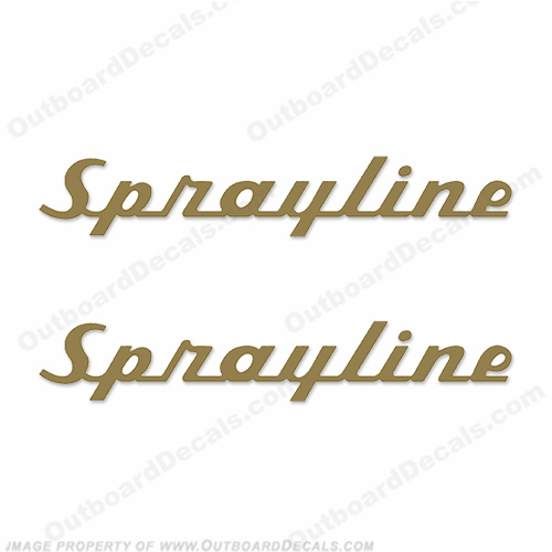 Sprayline Boat Decals (1960s) - Any Color!