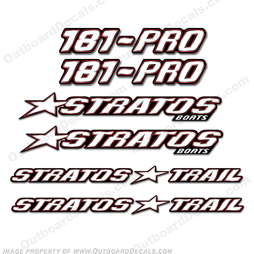 Stratos Boats 181 Pro Decal Package