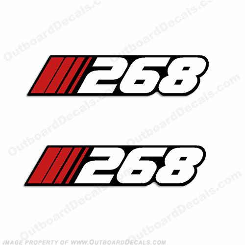 "Stratos ""268"" Decal (Set of 2)"