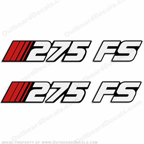 Stratos 275 FS (Fish/Ski) Boat Decals (Set of 2)