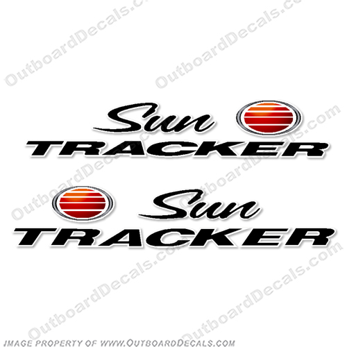 Sun Tracker Logo Bass Buggy Boat Decals (Set of 2)  SUN, tracner, bass, buggy, boat, logo, decals, decal, sticker, pontoon,