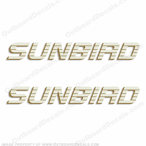 Sunbird Boat Logo Decals (Set of 2)