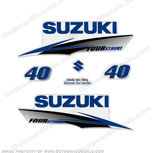 Suzuki 40hp 4-Stroke Decals (Dark Blue) 2010+