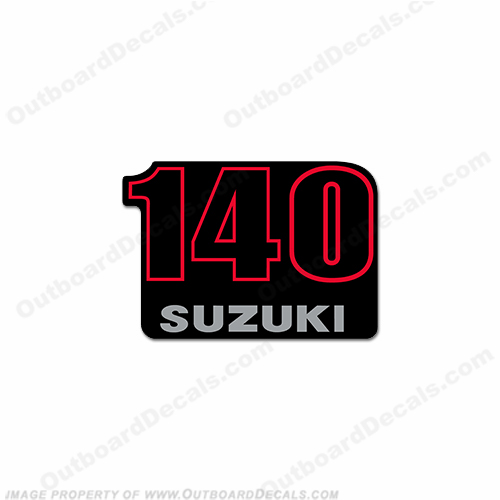 "Suzuki ""140"" Single Decal - Rear"