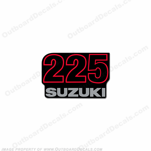 "Suzuki Single ""225"" Decal - Rear"