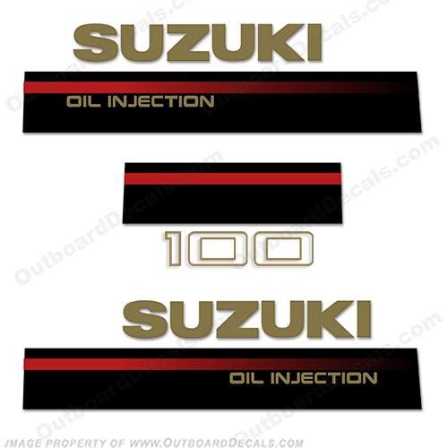 Suzuki DT4 4 HP Two stroke Outboard Engine Decals Sticker Set reproduction 4HP