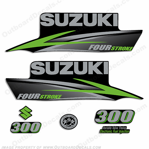 Suzuki DT140 140HP Two stroke Outboard Engine Decals Sticker Set reproduction
