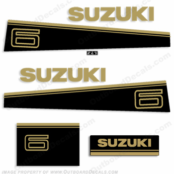 Suzuki 6hp Decal Kit - Late 80s to Early 90s
