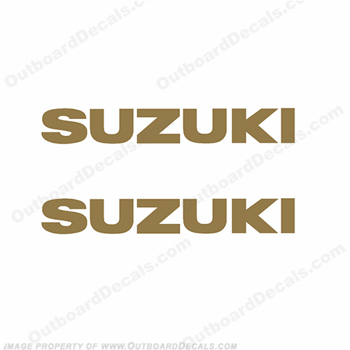 Suzuki Decals (set of 2) - Gold