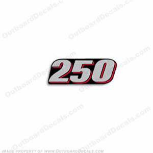 "Suzuki 2010-2013 Single ""250"" Decal - Rear"