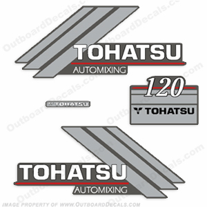 Tohatsu 120hp Automixing Decal Kit