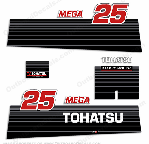 Tohatsu 25hp Mega Decal Kit