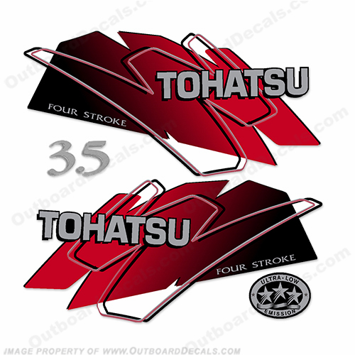 Tohatsu 3.5hp Decal Kit - Red