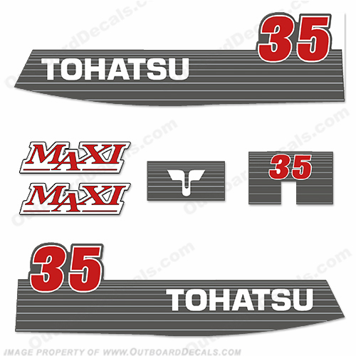 Tohatsu 35hp Maxi Decal Kit