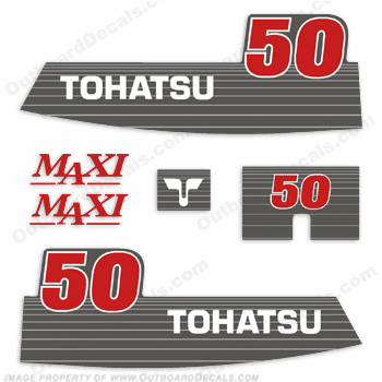 Tohatsu 50hp Maxi Decal Kit