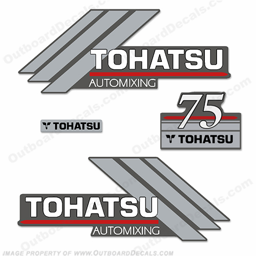 Tohatsu 75hp Automixing Decal Kit