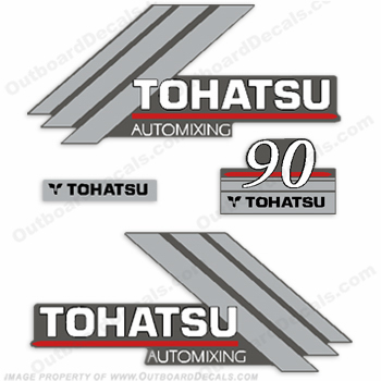 Tohatsu 90hp Automixing Decal Kit