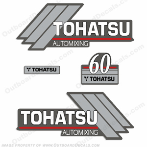 Tohatsu 60hp Automixing Decal Kit