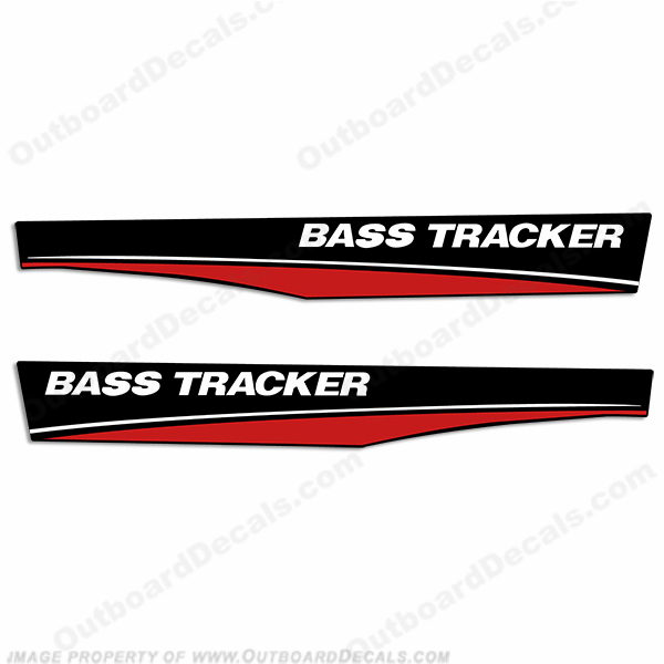 Bass Tracker Boat Decals - Red